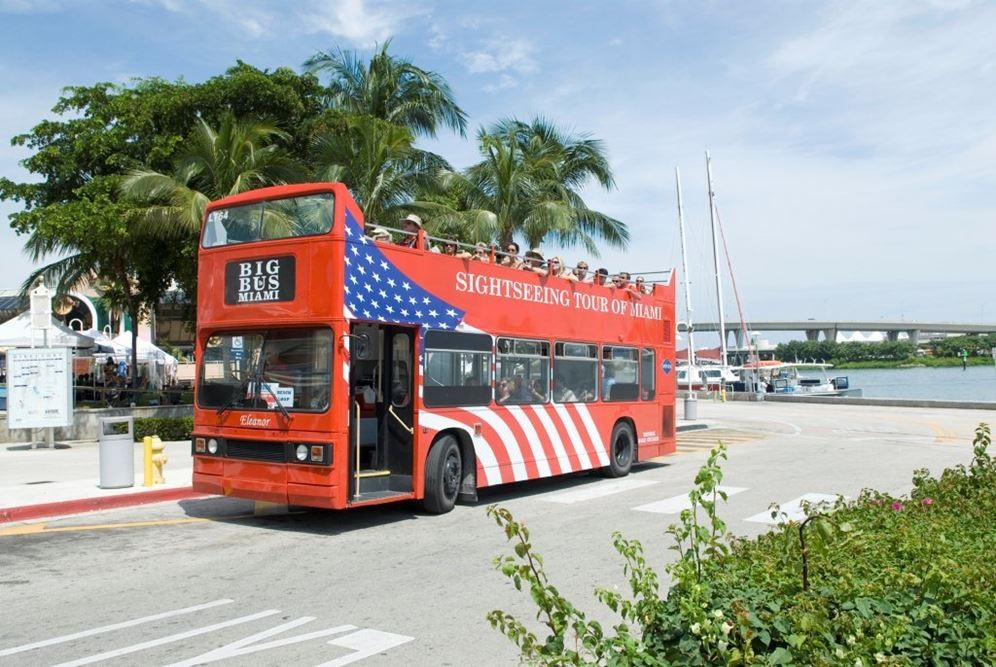 Hop On Hop Off Sightseeing with Biscayne Bay Cruise- 1 Day Pass