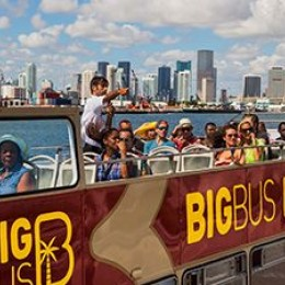 Deluxe Hop On Hop Off  with Biscayne Bay Cruise- 2 Day Pass